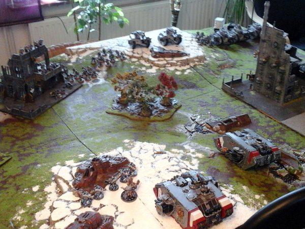 Übungsgefecht 2./52. Verbundwaffenregiment vs. 7. Bruderschaft der Grey Knights